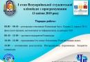13 квітня 2019 року – І етап Всеукраїнської студентської олімпіади з програмування